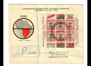 registered Johannesburg: International Philatelic Exhibition 1936