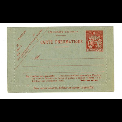 cover Carte Pneumatique, unused