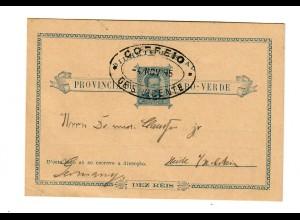 Cap Verde, post card 1895 to Germany - Heide