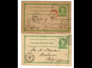 2x post card 1890/92