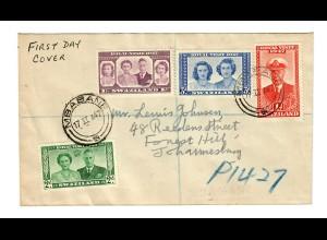 FDC 1947 Swaziland, Mbabane to Johannesburg