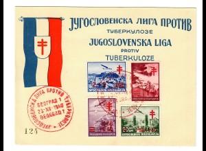 FDC Tuberkulose 1940 Beograd
