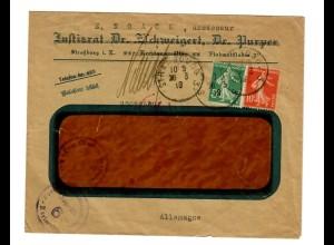Strassbourg 1919 mit Zensur in Karlsruhe