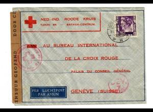NL-India: 1940 Batavia to Genf, censor