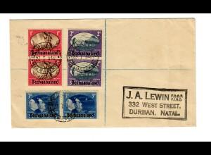 Bechuanaland 1946 to Durban/Natal