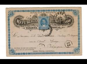 post card 1898 to Liege/Belgium