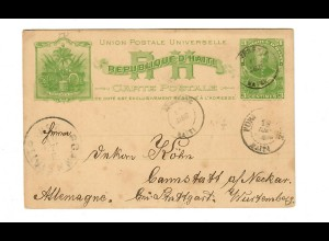 Post card 1903 to Cannstatt / Stuttgart