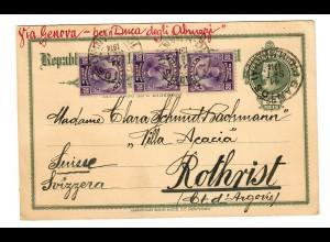 Post card 1914 Santos to Rothrist/Switzerland