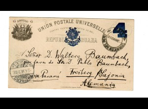 Post card 1896 to Freiberg/Germany