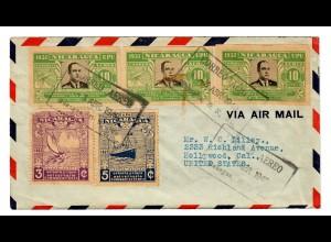 air mail Granada to Hollywood, Cal 1940