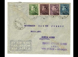 Air Mail Waregem 1938 to Buenos Aires