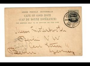 Post card 1899 Cap of good hope to Berlin