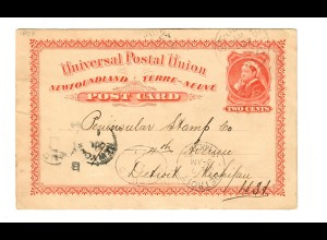 Post card 1899 to Detroit/USA