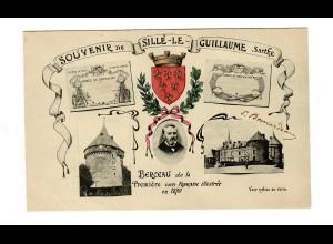 Post card Sourvenir de Sillé le Guillaume, Sarthe, Berceau 1908