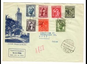 Tanger -Spain 1948 to Bern/Switzerland