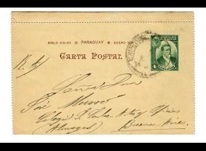 Postkarten-Brief 1901 nach Buenos Aires, siehe Rückseite