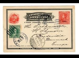 Ganzsache nach Dänemark 1905