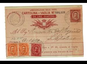 Geldanweisung/Cartolina-Vaglia 1894, Monte St. Maria Tirerina