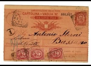 Geldanweisung/Cartolina-Vaglia 1894, Bassano