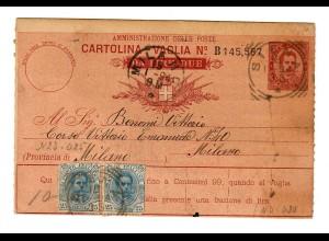 Geldanweisung/Cartolina-Vaglia 1894, Milano