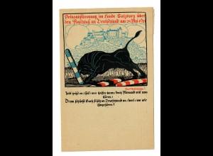 Abstimmungskarte Salzburg über den Anschluss an Deutschland 1921