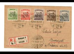 Postkarte Budapest als Einschreiben 1927