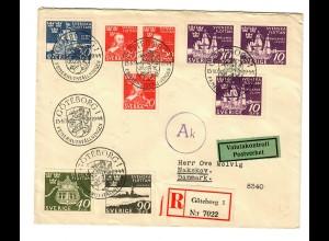 Einschreiben Göteborg nach Nakskov/Dk, Post Zensur 1944