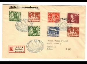Einschreiben Stockholm De La Ware 1938 nach Zürich