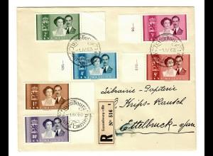 Einschreiben Luxembourg - Ville nach Ettelbruck 1953