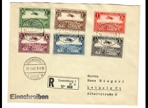 Einschreiben Luxembourg nach Leipzig 1940