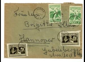 Brief von Gdansk 1948 nach Hannover
