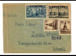 Brief von Gotebiewo/Gdansk 1946 nach Zürich