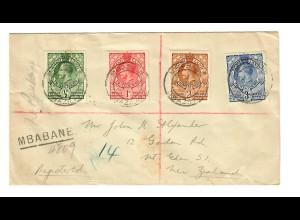 Brief Mbabane nach New-Zealand 1936
