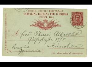 Postkarte Grand Hotel Milano/Livorno/Venezia, nach München