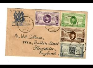Brief von Ägypthen nach England 1946