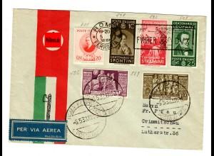 Luftpost Roma 1938 nach Crimmitschau