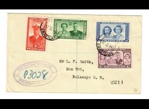 Brief von Mbabane nach Bulawayo 1947