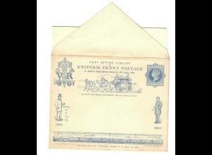 Briefumschlag mit Briefbogen zum Penny Postage Jubilee 1890