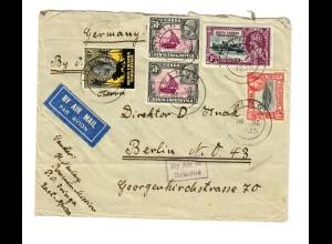 Air Mail Iringa nach Berlin 1935