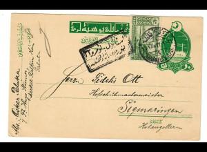 Postkarte Konstantinopel 1917 nach Sigmaringen
