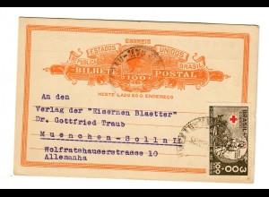 Postkarte Blumenau 1935 mit Bestellung nach München-Solln