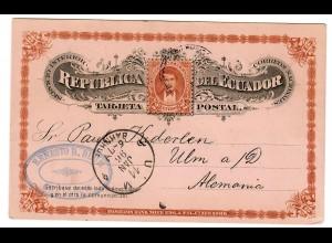 Postkarte 1896 nach Ulm