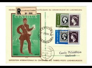 Einschreiben Luxembourg 1952 nach Ettelbruck