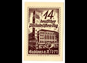 Deutscher Philatelistentag 1933 Gablonz/Jablonec