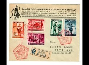 Einschreiben Beograd nach Novi Sad 1940 Philatelie