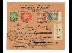 Einschreiben Citta del Vaticano nach Amsterdam 1934
