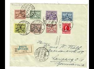 Einschreiben Poste Vaticane 1929 nach Leipzig