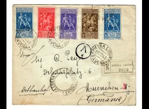 Einschreiben Pietra Ligure 1941 nach München, Zensur