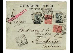 Einschreiben Monte Varchi nach Arnburg 1907