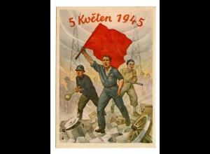 Prag Propaganda 1946 mit Sonderstempel